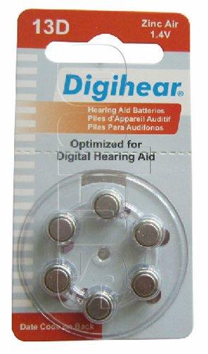 1.4V PR48 Size 13 A13 13D Hearing Aid Batteries (10-Packs) Zinc Air Qty 60(China (Mainland))