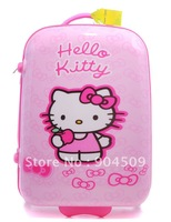 2012 High Recommended women's  20' ABS hello kitty travel luggage pink trolley suitcase best christmas gift free shipping