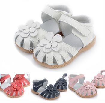 Горячий! 100% кожа малыша дети розовый липучке девочек сандалии 2013 продвижение ...