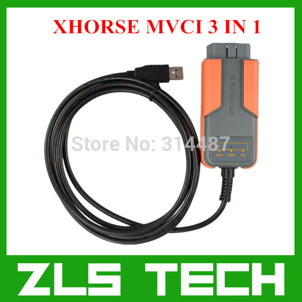 Newest V8.10.021 Original XHORSE MVCI 3 IN 1 Highly Recommended Free Shipping(China (Mainland))