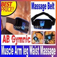 Free Shipping  Body Health Care Slimming Massager AB Gymnic Electronic Muscle Arm leg Waist Massage Belt, Dropshipping