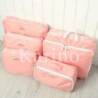 Free shipping Wholesale NEW Organizer Traveling Bag in Bag,  5pcs/set
