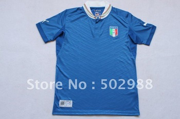 customize 2012-2013 top thai quality USPDRY fabric new Italy home blue soccer jersey,football shirt, wholesale sports jerseys