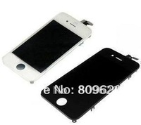 20pcs/lot LCD Screen for iPhone 4 4G Display with Digitizer full set Black and White Mix  free shipping by DHL EMS