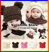 baby crochet hat toddler beanie knitted animal for children custom;girl Solid boy ear kids cap  #2C2579  10pcs/lot(5 colors)