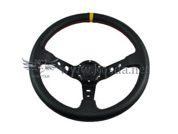 Wholesale / New Arrival / 350mm MOMO Deep Corn Rally Suede Steering Wheel