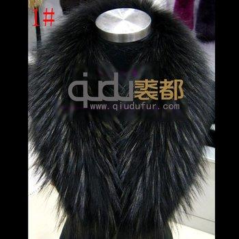 QD5977 Genuine Raccoon Fur Collar big scarf neckwear women's accessories/Hot sale/Retail/Wholesale/Free shipping