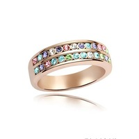 18K Gold Plated  Austria Crystal Jewellery Ring