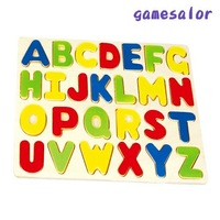 wooden capital letter alphabet jigsaw puzzle for children  #2003