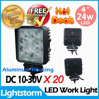 "FREE SHPPING! 24W 10-30V 4.5"" Led Work Light Lamp for Truck Trailer SUV 4X4 UTV ATV Jeep Offroad light bar,Best Quality Hotsale!"