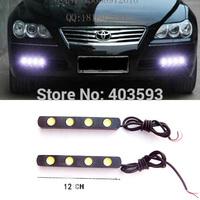 FREESHIPPING  Daytime running light DRL Car Accessories LED daytime 4LED*2