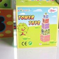 Children's building blocks Wooden Toys Animal Piles high #2065