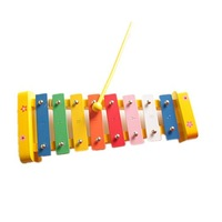 Children's educational toys eight scales color of wood hand-struck piano #2063