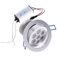 Free express 6 pcs/lot 7 Watts LED ceiling light, 85~265V with 2 year warranty CE/ROHS