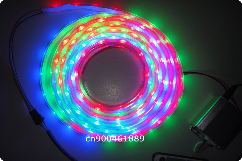 FREE SHIPPING! Addressable 5M/roll DC5V 4.8W/M 32leds/M SMD5050 digital 4096 kinds multi-colors HJ-S301 led flexible strip light(China (Mainland))