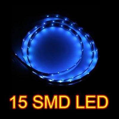 Blue 30CM 15 SMD LED Flexible Strip Car Van Light Lamp Bulb 12V Waterproof New #8336(China (Mainland))