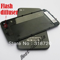 Hot New Black glass Back Battery Door Housing Cover for iPhone 4 Free Shipping A002