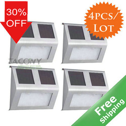 30% OFF Solar wall light/solar step light+Stainless steel+CE Approved+100 % solar power+ 4pcs/lot+Free shipping(China (Mainland))