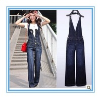 Free shipping 2013 new women's denim overalls jeansSlim jumpsuit coveralls  loose suspenders jeans-G71