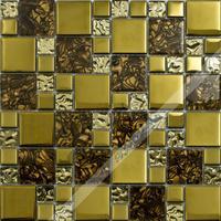 [Colorful Mosaic] Cloud Pattern Gold Glass Mosaic Tile