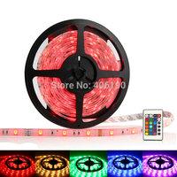 200 meters Super Bright 5050 SMD 150LED 30LED/m RGB LED Strip Flexible Light + 24 key IR controller Waterproof Decoration