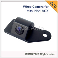 "Free shipping 1090K Car Rear view Camera Wired CCD 1/3"" car parking camera for Mitsubishi ASX 728*582 night vision"