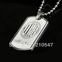 Free Shipping 316L Stainless steel fashion Football Team pendants(AC.MILAN) fashion necklace pendant DZ049