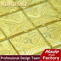 2014 Sale Building Materials Bathroom Tiles [kinghao] Wholesale Decorative Tiles Color Kitchen Supplies Glass Mosaic Tile Kwp402