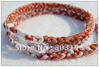 NEW ARRIVAL Free Shipping 2012 NCAA Texas Longhorns 3 Ropes Triple Tornado Necklaces Without Retail Box 50PCS/LOT