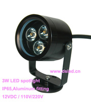 3W LED spotlight,Waterproof,Strong Aluminum,12VDC,110-250VAC,DS-06-24 warmwhite,white,blue,green,Red,Amber