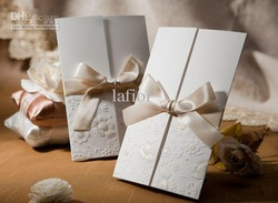 100 pcs Cheap Wedding Invitation Cards Elegant Wedding Invitations Custom wedding invitation cards(China (Mainland))