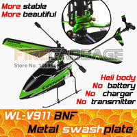WL V911 BNF [Not RTF / No transmitter] 4CH 2.4GHz Single Blade RC Helicopter, Drone- Bind to fly (also sell v959 v912 v262 v913)