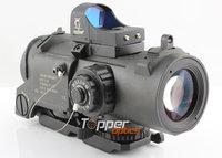 1-4X Elcan SpecterDR Type Cross Red Dot Illuminated Scope with Brightness Sensitive Sight Docter Red Dot Reflex #Black, 1-4X32F2