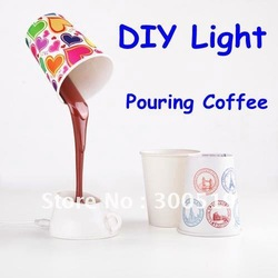 H001 Novelty DIY LED Night Lamp Table Home Decoration Romantic Coffee Usb Or Battery Promotion Gifts Freeshipping Drop Shipping(China (Mainland))
