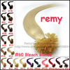 100S 16&quot;-26&quot; Remy Keratin Nail tip Human Hair Extensions Silky Straight #24 Medium Blonde 40g50g60g70g