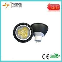 Free shipping 10pcs/lot black 4W 220LM LED spotlight MR16