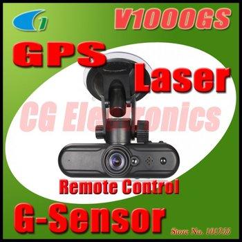 Original V1000GS 5.0MP Full HD 1920x1080p Vehicle Car DVR Camcorder w/GPS Logger/G-Sensor/Infrared Laser/HDMI Output
