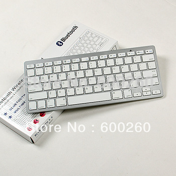 free shipping Bluetooth Wireless White Keyboard for PC Macbook Mac ipad 2 iphone#8371