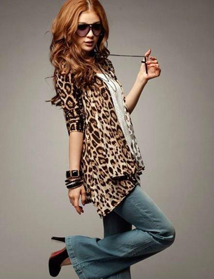 Женская куртка hot sale Korea sexy women leopard cardigan long sleeve panther autumn top coat jacket S10175