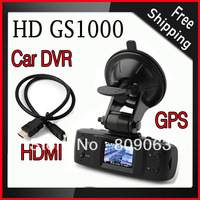 Free Shipping GS1000 1.5 inch 1080P Full HD Car Dvr with GPS Logger, Motion Detection, Night Vision, Wide Angle
