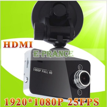 2014 New Arrival K6000 Novatek Chip HD 1920*1080P 2.7 TFT Camera Car DVRS With HDMI Free Shipping