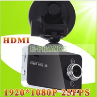 HD 1920*1080P 25FPS 2.7 inch TFT Car Camera K6000 with HDMI+support up to 32GB memory card free shipping