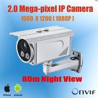 1/3''CMOS H.264 2 Megapixel Waterproof IP Camera,80m Night Vision,1080p IP Camera, POE,SD Card,ONVIF are optional KE-HDC632