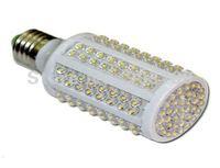 10pcs/lot New hot high brightness LED corn lamp AC 220V /110V , LED energy-saving lamps 9W 166 LEDS E27  free shipping