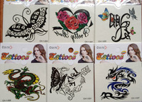 2014 new 36 desgin 100 pcs Temporary tattoo stickers - for Body art Painting - mixed designs - Free Shipping