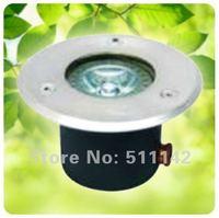 Free shipping led underground light 1W Bridgelux chip ground lamp outdoor lighting 100lm 12V dc or 85~265V ac