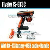 Flysky Newest FS-GT3C GT3C 2.4G 3CH Gun RC Controller /w receiver , TX battery, USB cable, handle --Upgraded FS-GT3B GT3B