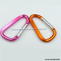 Wholesale 5cm Flat D Shaped Carabiner Camp Snap Clip Hook  For Outdoor Sports,Anodized Color,Free Shipping!
