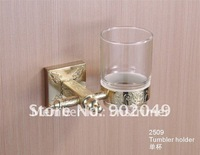 Hot Sell New Color Brass Bathroom Accessories Tumbler Holder Cup Free Shipping KG-2509