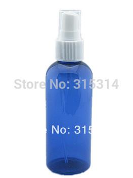 100ml empty   plastic bottle , blue pet  bottle with white fine mist,atomizer sprayer